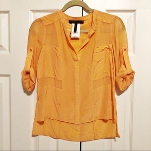 BCBG Orange Blouse
